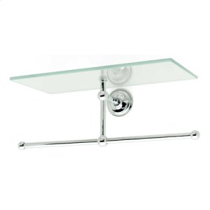 "Satin Nickel 12"" Shelf with Towel Bar"