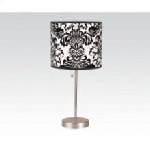 Table Lamp W/bk,wh Shade