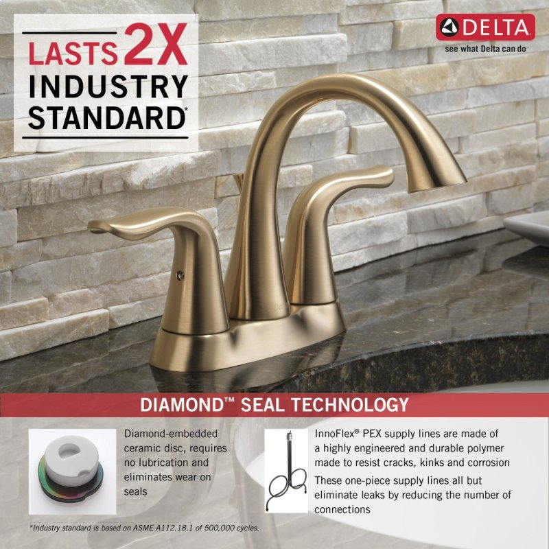 2538CZMPUDST in Champagne Bronze by Delta Faucet Company in Raleigh ...