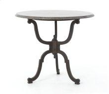 Iron Bistro Pedestal Table W/bluestone T