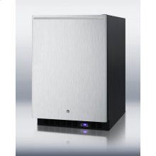 Frost-free Outdoor All-freezer W/icemaker, Digital Thermostat, Black Cabinet, Lock, Stainless Steel Door and Horizontal Handle