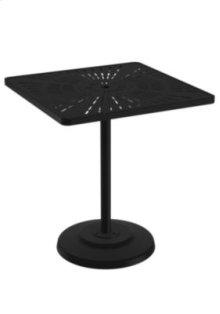"""La'Stratta 36"""" Square KD Pedestal Bar Umbrella Table"""