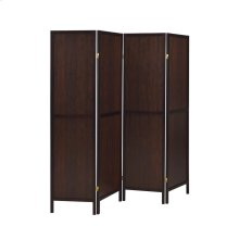 Rustic Tobacco and Cappuccino Four-panel Screen