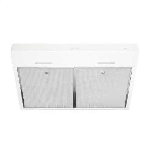 Tenaya 30-inch 300 CFM White Under-Cabinet Range Hood with LED light