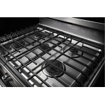 Kitchenaid 30-Inch 5-Burner Gas Convection Range - Black Stainless
