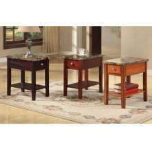CAPPUCCINO CHAIRSIDE TABLE WITH DRAWER