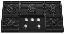 36-Inch 5 Burner Gas Cooktop, Architect® Series II - Black