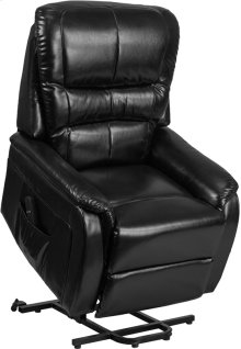 Black Leather Remote Powered Lift Recliner