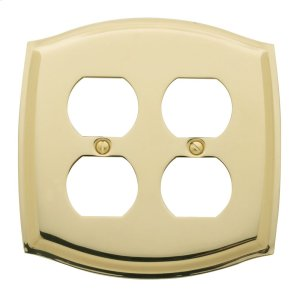 Polished Brass Colonial Double Duplex Product Image