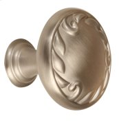 Ornate Knob A3650-38 - Satin Nickel