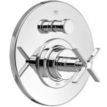 Percy Pressure Balanced Tub/Shower Trim with Cross Handle - Polished Chrome
