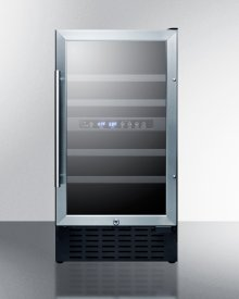 """18"""" Wide ADA Compliant Dual Zone Wine Cellar for Built-in or Freestanding Use, With Digital Controls, Lock, and LED Lighting"""