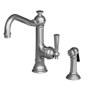Aged Brass Single Handle Kitchen Faucet with Side Spray