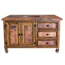 "48"" Copper Vanity W/Drawers"