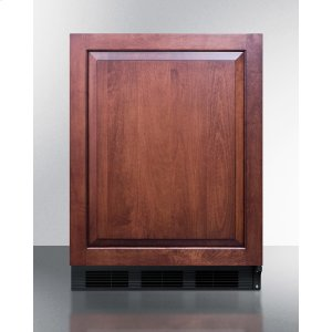SummitBuilt-in Undercounter Refrigerator-freezer for General Purpose Use, With Dual Evaporator Cooling, Integrated Door Frame for Overlay Panels, and Black Cabinet