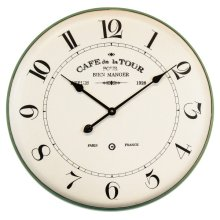 French Caf Wall Clock