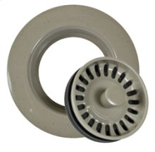Decorative Plastic Universal Garbage Disposer Flange with Stopper for Granite Sinks - Champagne