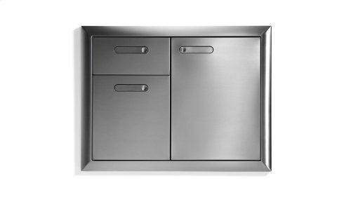 """30"""" Storage door & double drawer combination"""