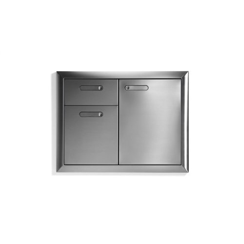 "30"" Storage door & double drawer combination"