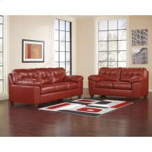 Signature Design by Ashley Alliston Living Room Set in Salsa DuraBlend [FSD-2399SET-RED-GG]