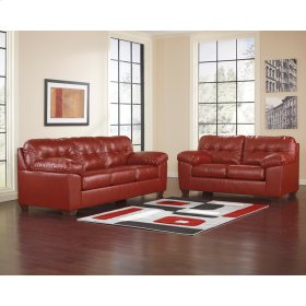 Signature Design by Ashley Alliston Living Room Set in Salsa DuraBlend [FSD-2399SET-RED-GG]