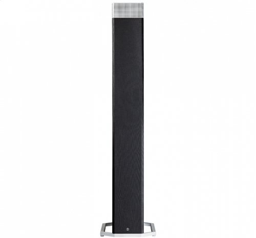 "High-Performance Tower Speaker with Integrated 12"" Powered Subwoofer and Height Module"