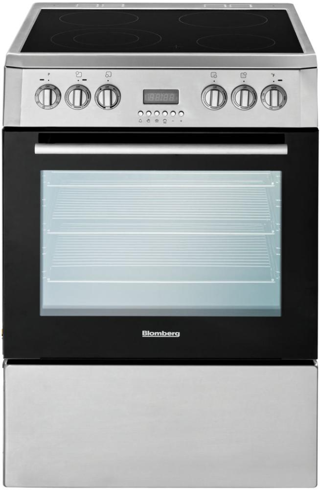 """Blomberg Appliances24"""" Electric, Convection W/fan And Circular Element, Smooth Top 4 Zone, Stainless"""