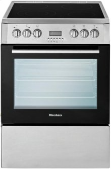 """24"""" Electric, convection w/fan and circular element, smooth top 4 zone, stainless"""