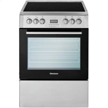 "24"" Electric, convection w/fan and circular element, smooth top 4 zone, stainless"