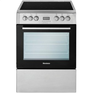 "Blomberg24"" Electric, convection w/fan and circular element, smooth top 4 zone, stainless"