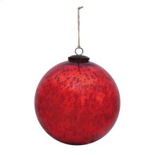 "8"" Classic Red Ball Ornament"