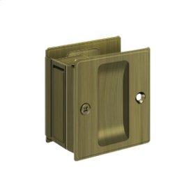 """Pocket Lock, 2 1/2""""x 2 3/4"""" Passage - Antique Brass"""