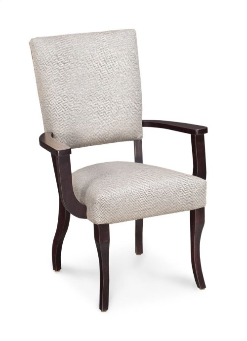 Addison Arm Chair, Fabric Seat and Back