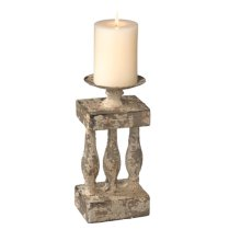 Small Distressed Column Pillar Holder