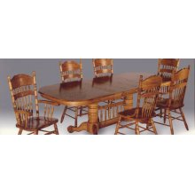"Sunburst Table Top - Table has (2) 18"" leaves"