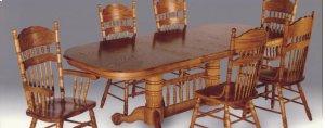 """Sunburst Table Top - Table has (2) 18"""" leaves"""