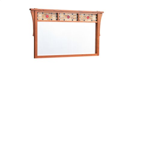 Grant Bureau Mirror with Stained Glass, Medium