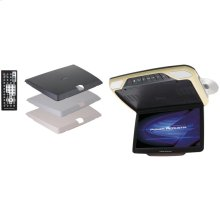 """14.3"""" Ceiling-Mount DVD Entertainment System with IR & FM Transmitters, 3 Interchangeable Color Skins & MHL® MobileLink"""