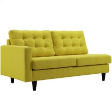 Empress Left-Facing Upholstered Fabric Loveseat in Sunny