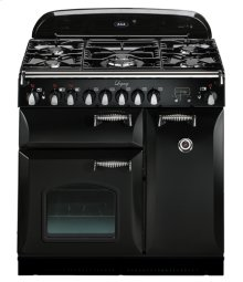 "Black with cathedral doors AGA Legacy 36"" Dual-Fuel Range"