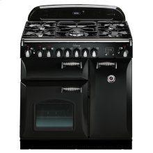 """Black with cathedral doors AGA Legacy 36"""" Dual-Fuel Range"""