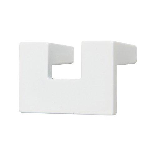 U Turn Knob 1 1/4 Inch (c-c) - High White Gloss