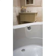 "PushControl Bath Waste and Overflow A simple push Molded plastic - Polished chrome Material - Finish 17"" - 24"" Tub Depth* 27"" Cable Length"