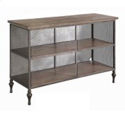 Remington Round Eyelit Metal and Wood Media Console Product Image