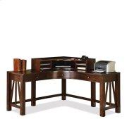 Castlewood Curved Corner Desk Hutch Warm Tobacco finish Product Image