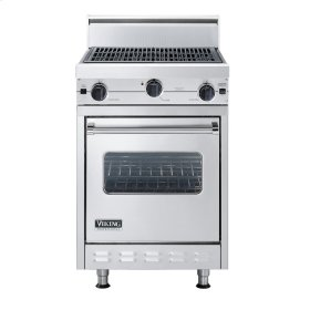"""Stainless Steel 24"""" Char-Grill Companion Range - VGIC (24"""" wide range with char-grill, single oven)"""