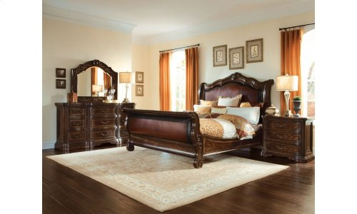 Valencia King Upholstered Sleigh Bed