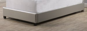 Karley Footboard and Rails - Full - Embossed Silver With Glass Button