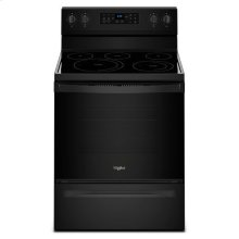 Whirlpool® 5.3 cu. ft. Freestanding Electric Range with Fan Convection Cooking - Black