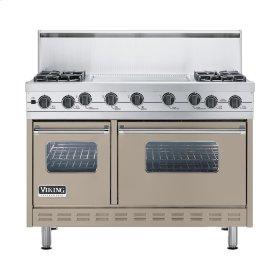 "Taupe 48"" Sealed Burner Self-Cleaning Range - VGSC (48"" wide, four burners & 24"" wide griddle/simmer plate)"